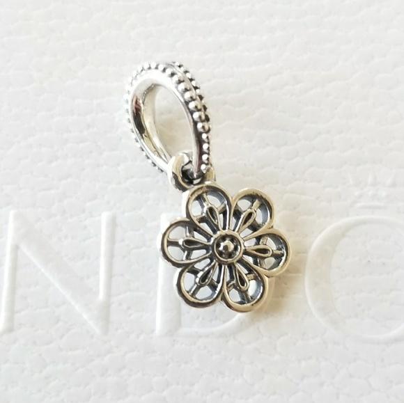daf8edfbe Pandora Jewelry | Floral Daisy Lace Dangle Charm | Poshmark